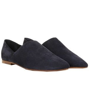 Vince Maude navy suede loafer flats